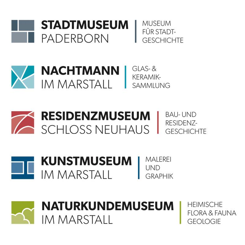 Logoentwürfe für die Städtischen Museen Paderborn